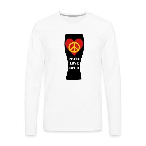 Peace Love Beer - Men's Premium Long Sleeve T-Shirt