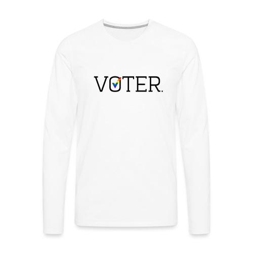 Voter Two-Toned Shirt - Men's Premium Long Sleeve T-Shirt