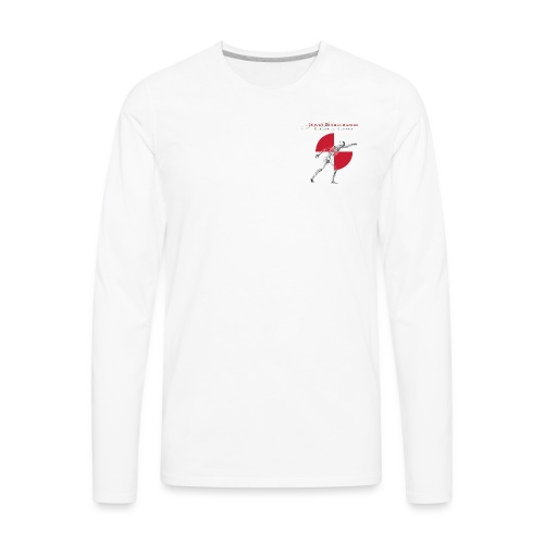 IBRC Pocket Logo with Buckle Up Brutus on Back - Men's Premium Long Sleeve T-Shirt