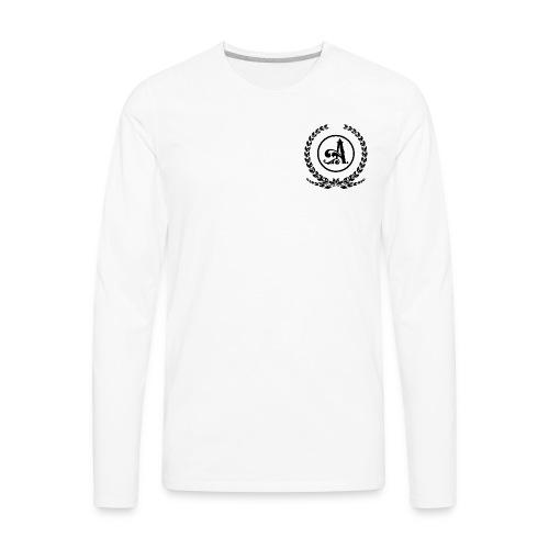 Wreath A B - Men's Premium Long Sleeve T-Shirt