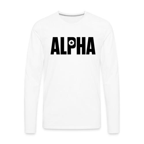 ALPHA - Men's Premium Long Sleeve T-Shirt