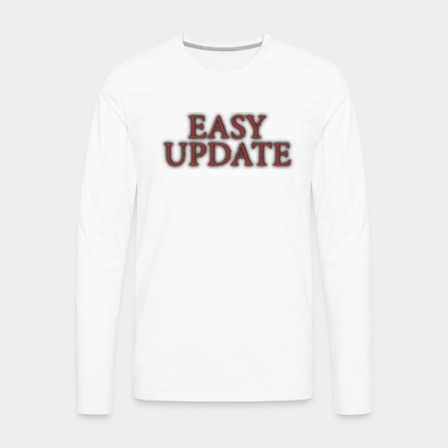 Easy Update Logo Red - Men's Premium Long Sleeve T-Shirt