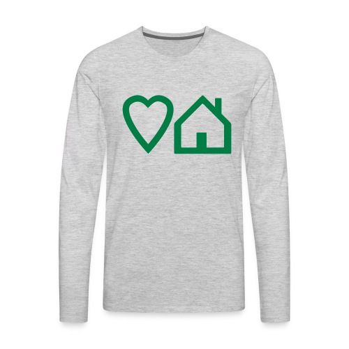 ts-3-love-house-music - Men's Premium Long Sleeve T-Shirt