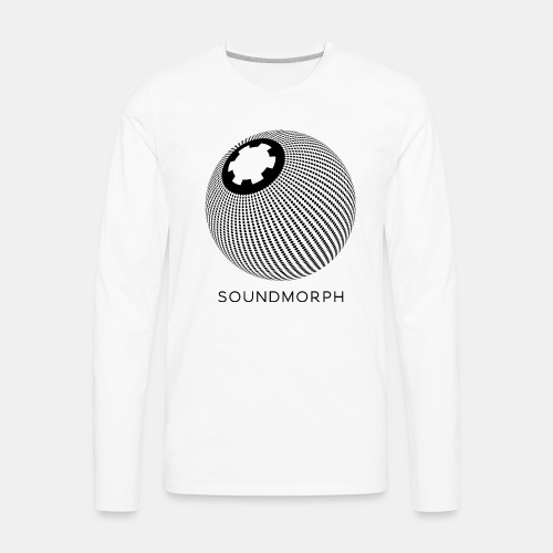 SoundMorph DotMatrix Tee - Men's Premium Long Sleeve T-Shirt