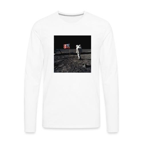 buzzAldrin jpg - Men's Premium Long Sleeve T-Shirt