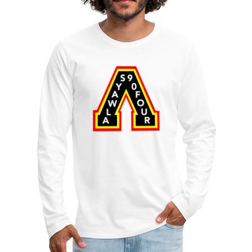 canucks skate a 2 - Men's Premium Long Sleeve T-Shirt
