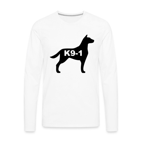 k9-1 Logo Large - Men's Premium Long Sleeve T-Shirt