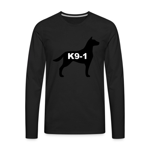 k9-1 Logo Large - Men's Premium Long Sleeve T-Shirt