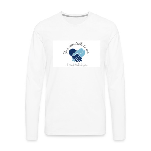 Selective Mutism Whose Choice Logo - Men's Premium Long Sleeve T-Shirt