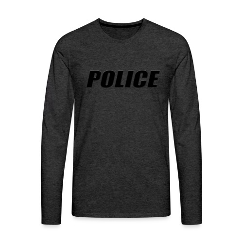 Police Black - Men's Premium Long Sleeve T-Shirt