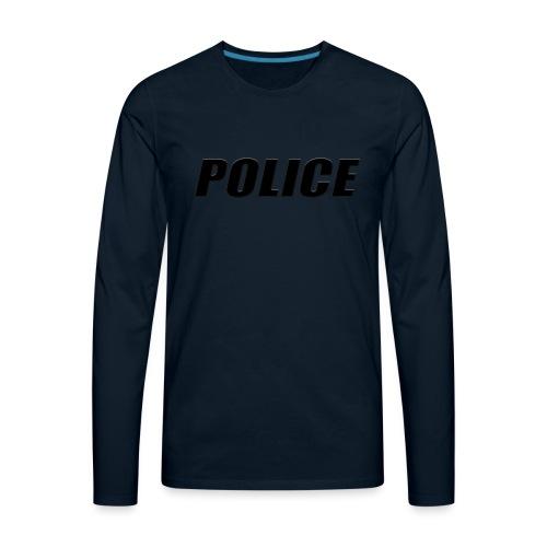 Police Black - Men's Premium Long Sleeve T-Shirt