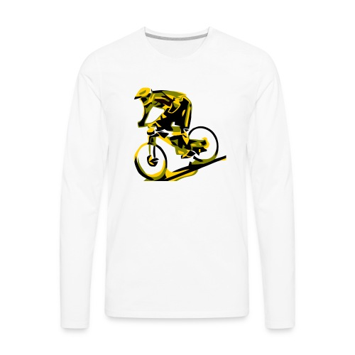 DH Freak - Mountain Bike Hoodie - Men's Premium Long Sleeve T-Shirt