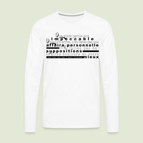 4 Accords Toltèques - Men's Premium Long Sleeve T-Shirt