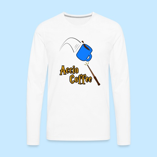 Accio Coffee! (Double Sided) - Men's Premium Long Sleeve T-Shirt
