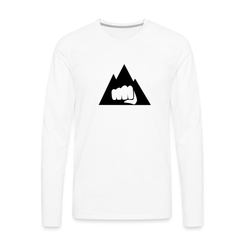 The Mountain Logo T-Shirt (L) Men's Fruit of the L - Men's Premium Long Sleeve T-Shirt
