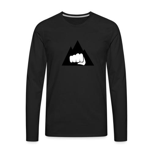 The Mountain Logo T-Shirt (L) Men's Fruit of the L - Men's Premium Long Sleeve T-Shirt