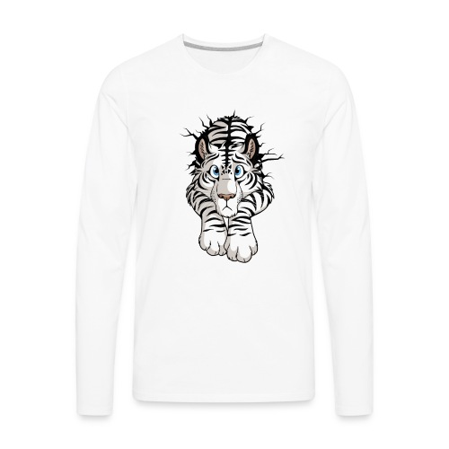 STUCK Tiger White (double-sided) - Men's Premium Long Sleeve T-Shirt