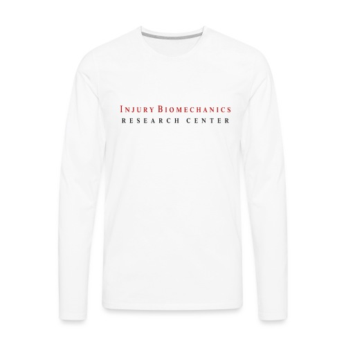 IBRC Classic with Fighting Skeleton on back - Men's Premium Long Sleeve T-Shirt