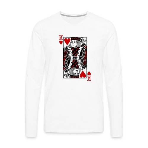king of hearts Valentines Day (his and her) - Men's Premium Long Sleeve T-Shirt