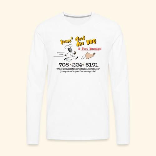 Jones Good Ass BBQ and Foot Massage logo - Men's Premium Long Sleeve T-Shirt