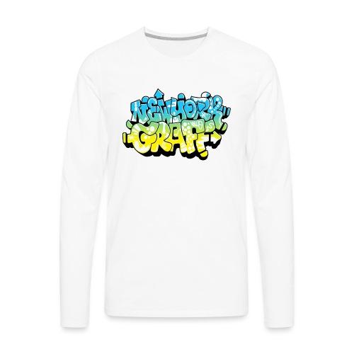 LAWE/SUB53 Design for New York Graffiti Color Logo - Men's Premium Long Sleeve T-Shirt
