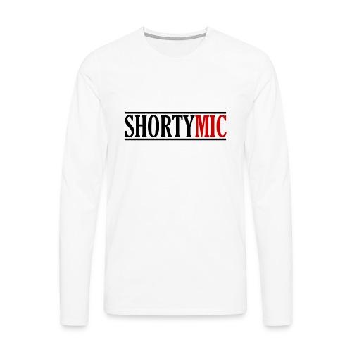 Shorty Mic - Logo - Black & Red - Men's Premium Long Sleeve T-Shirt