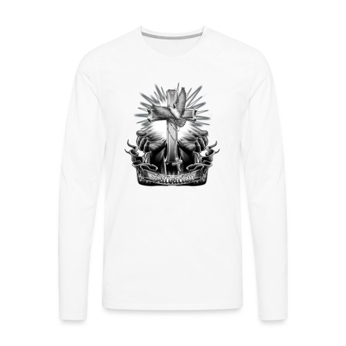 Salvacion by RollinLow - Men's Premium Long Sleeve T-Shirt