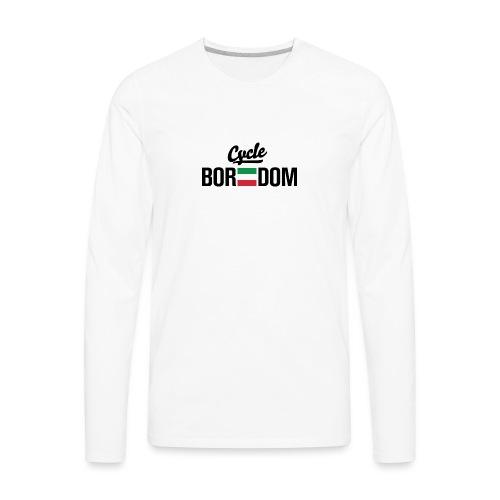 Italian E-Flag - Men's Premium Long Sleeve T-Shirt