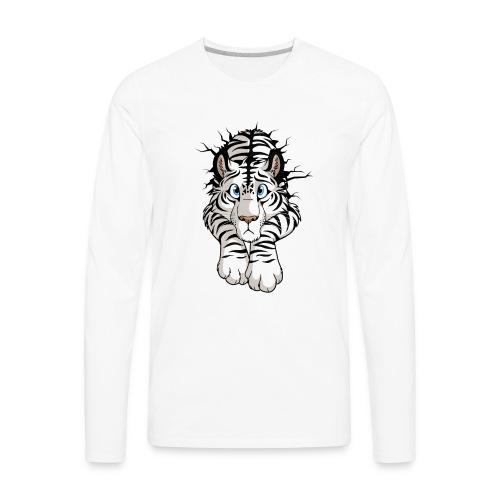 STUCK Tiger White (double-sided) - Men's Premium Long Sleeve T-Shirt