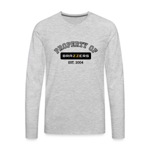 Property of Brazzers logo outline - Men's Premium Long Sleeve T-Shirt