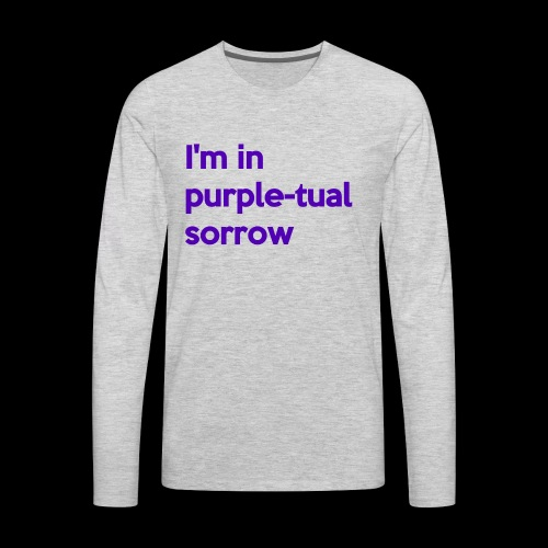 Purple-tual sorrow - Men's Premium Long Sleeve T-Shirt