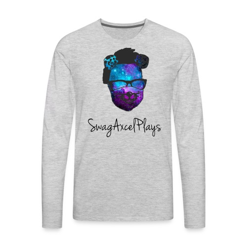 SwagAxcelPlaysV2 Galaxy - Men's Premium Long Sleeve T-Shirt