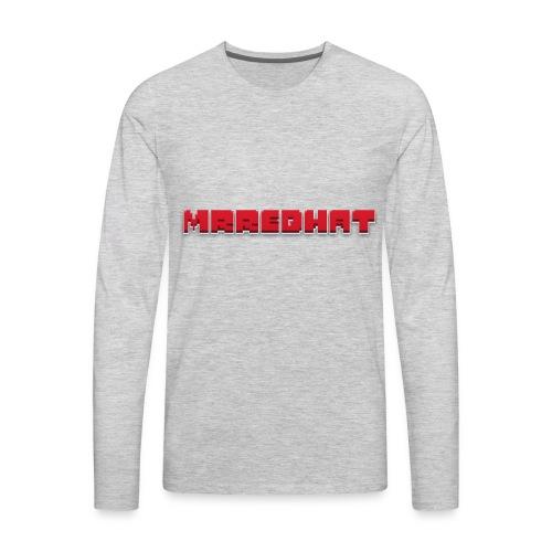 MrRedHat Plain Logo - Men's Premium Long Sleeve T-Shirt