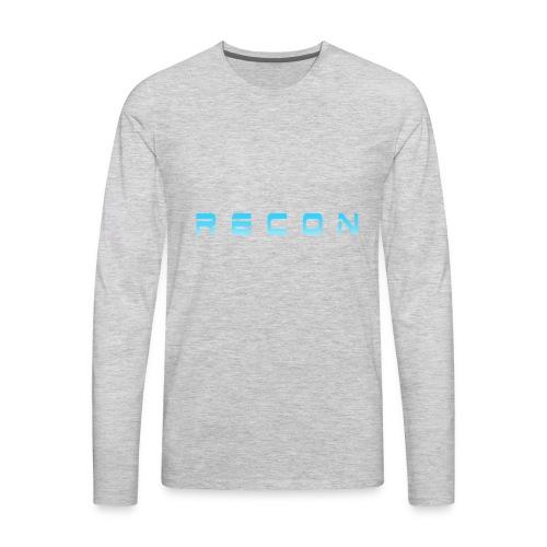 Rec0n Text - Men's Premium Long Sleeve T-Shirt