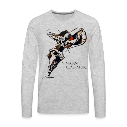 VEGAN GLADIATOR - Men's Premium Long Sleeve T-Shirt