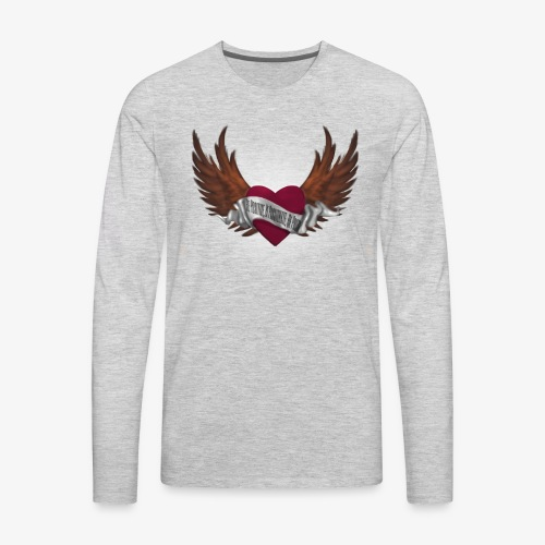 Never again memorial heart - Men's Premium Long Sleeve T-Shirt