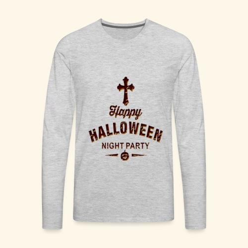 happy hallowen day ,Halloween night party - Men's Premium Long Sleeve T-Shirt