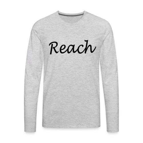 Classic Reach logo black - Men's Premium Long Sleeve T-Shirt