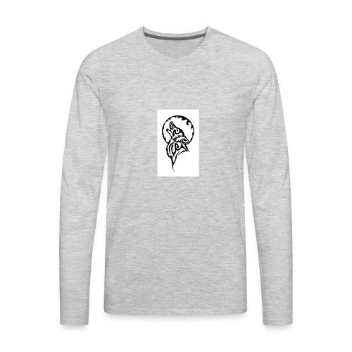 dark wolf - Men's Premium Long Sleeve T-Shirt
