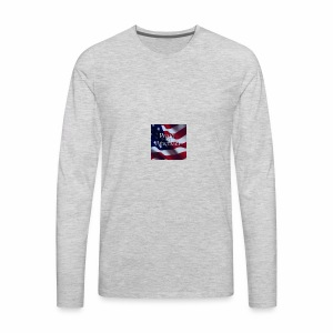 770764ed8cfed391ab7ad85ff8b8f2bb american flag am - Men's Premium Long Sleeve T-Shirt