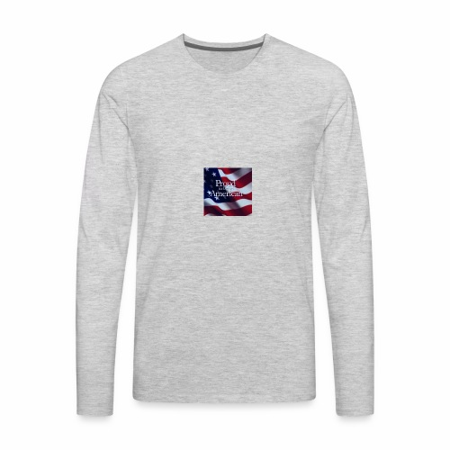 770764ed8cfed391ab7ad85ff8b8f2bb american flag am - Men's Premium Long Sleeve T-Shirt