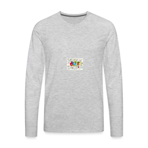 music banner - Men's Premium Long Sleeve T-Shirt