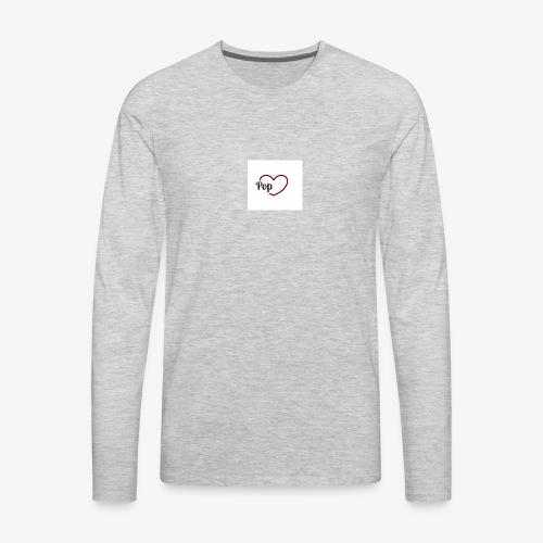Pop Hart Universe Logo - Men's Premium Long Sleeve T-Shirt