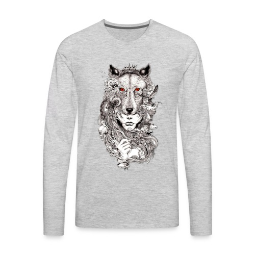Wolf Lady - Men's Premium Long Sleeve T-Shirt