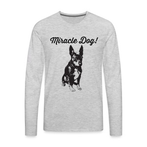 miracle dog - Men's Premium Long Sleeve T-Shirt
