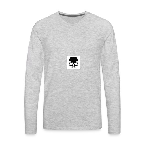 B1DBuy my Merch skull lit must buyyyyyyyyyyyyyyyyy - Men's Premium Long Sleeve T-Shirt