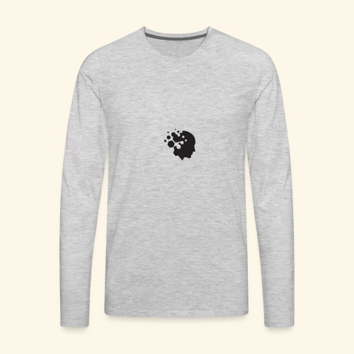 w logo blue png - Men's Premium Long Sleeve T-Shirt
