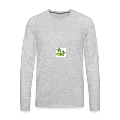 Cartoon snake - Men's Premium Long Sleeve T-Shirt