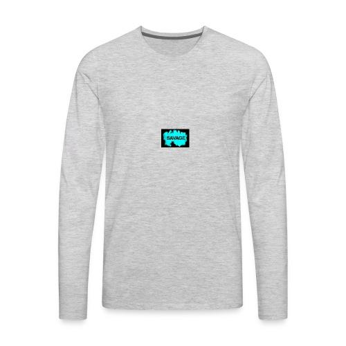 savage logo on sweter - Men's Premium Long Sleeve T-Shirt