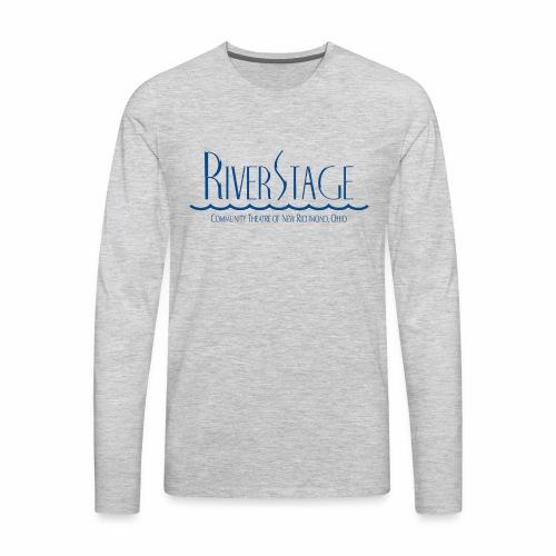 RiverStage Logo in Transparent Blue - Men's Premium Long Sleeve T-Shirt
